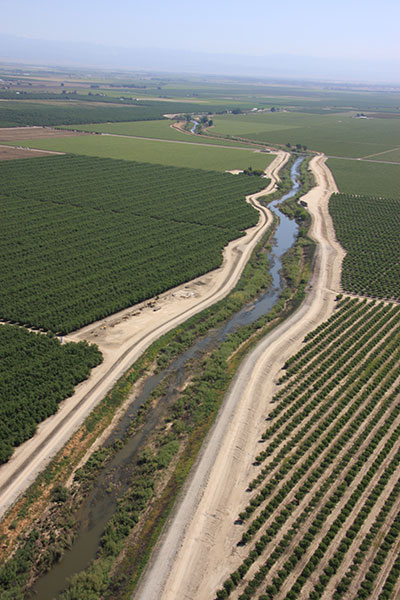 Aerial Arundo Tour Farmlands Chowchilla Watershed Madera County